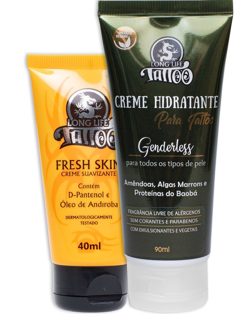 Fresh Skin Creme  40 ml + Creme Hidratante Vegano 90 ml