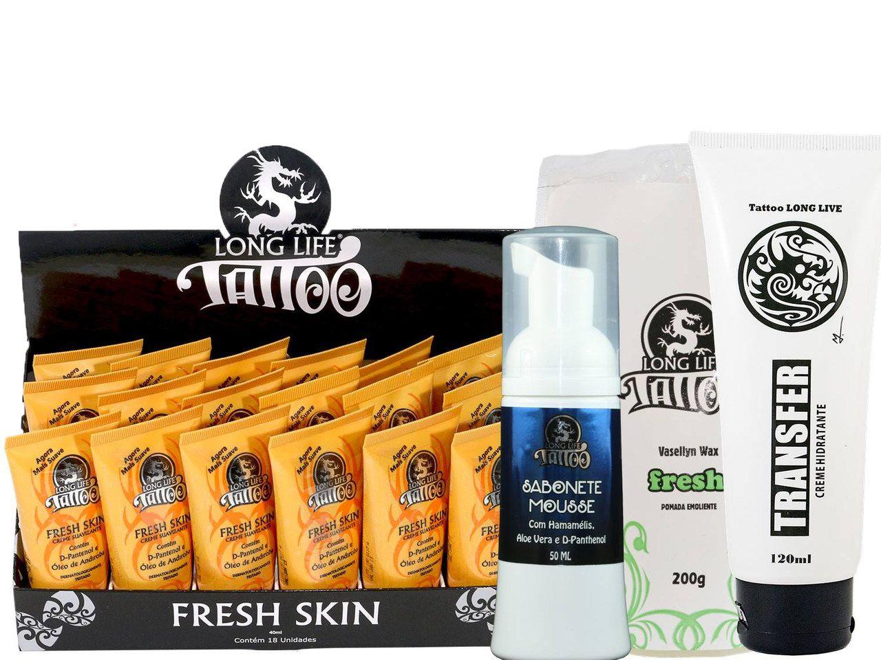 Fresh Skin 40 ml - Creme Suavizante (18un) +  Sabonete Mousse 50 ml + Vasellyn Fresh 200g + Transfer Creme 120 ml