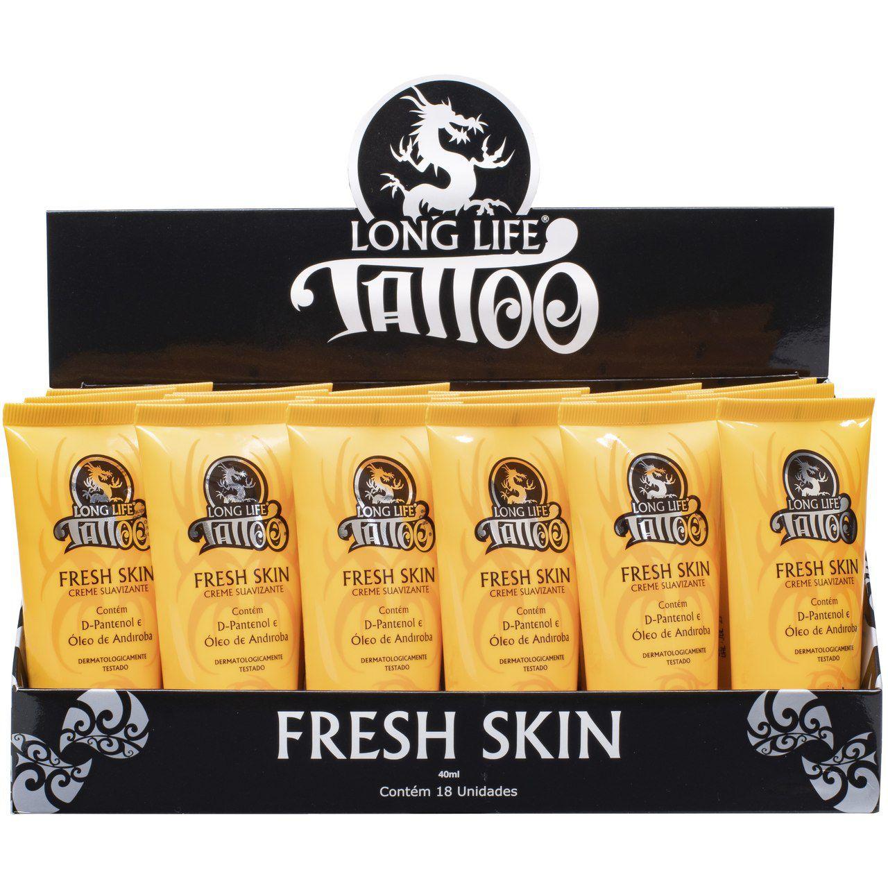 Fresh Skin Creme Suavizante 40ml - Para Tatuagem - (18 unids)