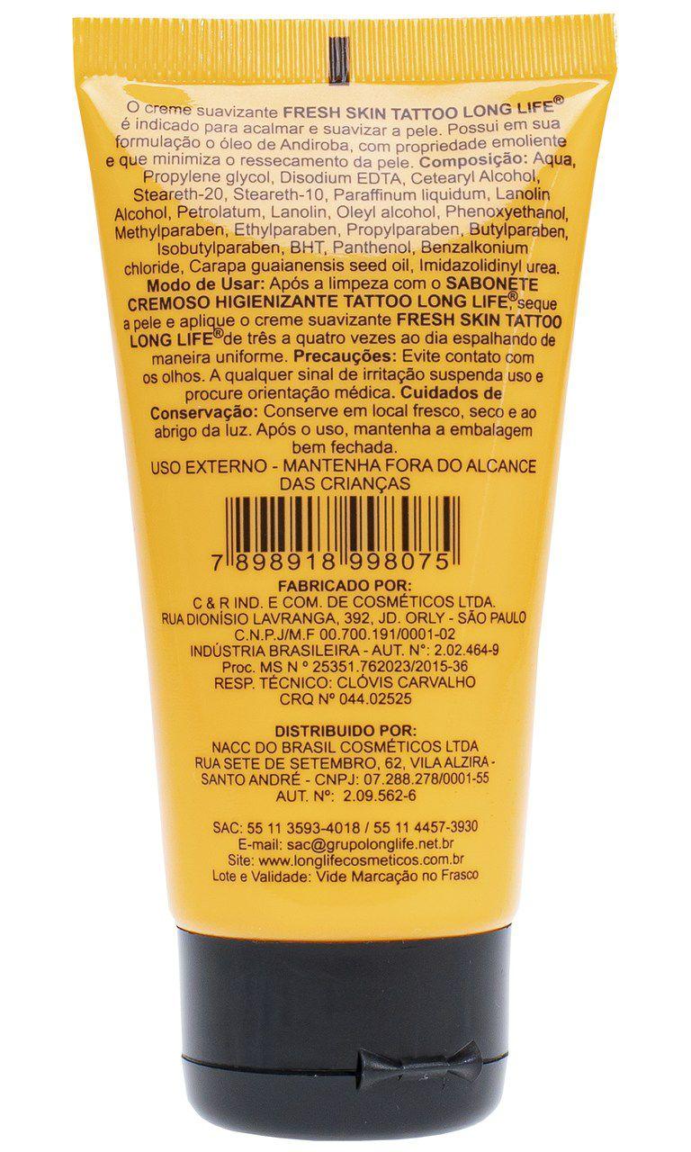 Fresh Skin Creme Suavizante 40ml - Cicatrização da Tatuagem - 1 caixa - 18 unidades