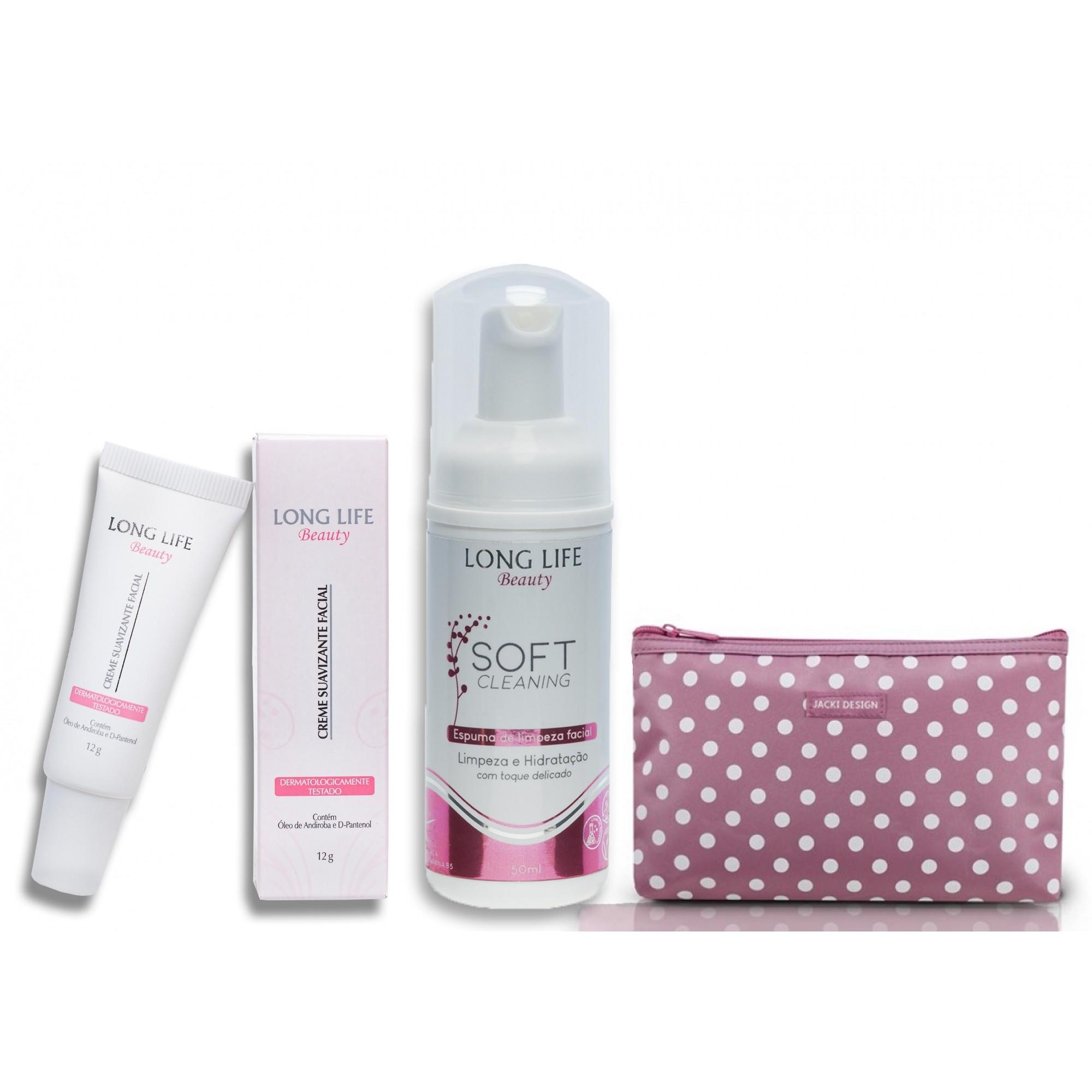 Kit Basiquinho Skin Care -  Sabonete Facial Soft Cleaning 50 ml + Creme Suavizante Facil Beauty 8ml