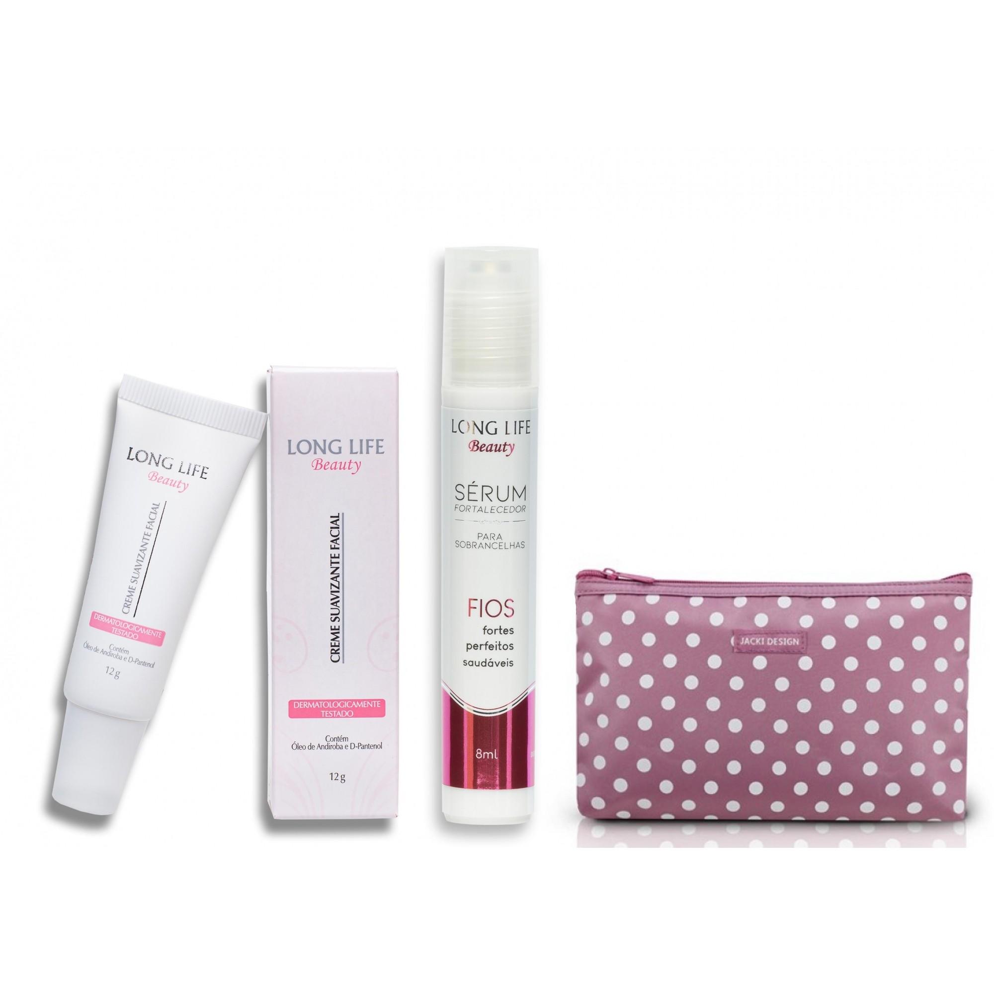 Kit Sobrancelhas - Creme Suavizante Facial Beauty 12 g + Sérum Fortalecedor para Crescer Sobrancelha 8 ml