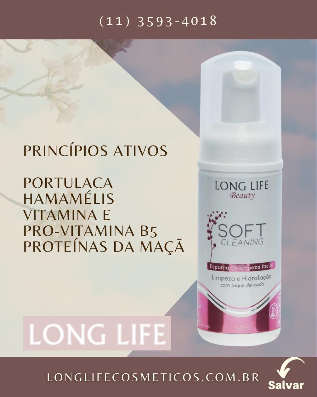 Sabonete Mousse Soft Cleaning 50 ml - Skin Care (3 unds) - Espuma Facial