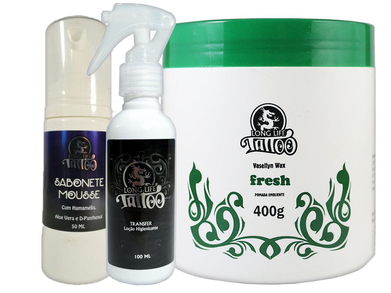 Sabonete Mousse 50 ml + Transfer Loção 100 ml + Vasellyn Wax Fresh 400g
