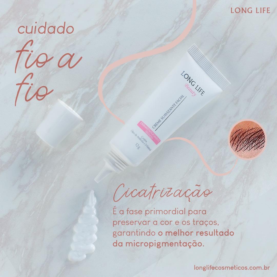 Creme Pós Micropigmentação Long Life Beauty  12g  (20 unids)