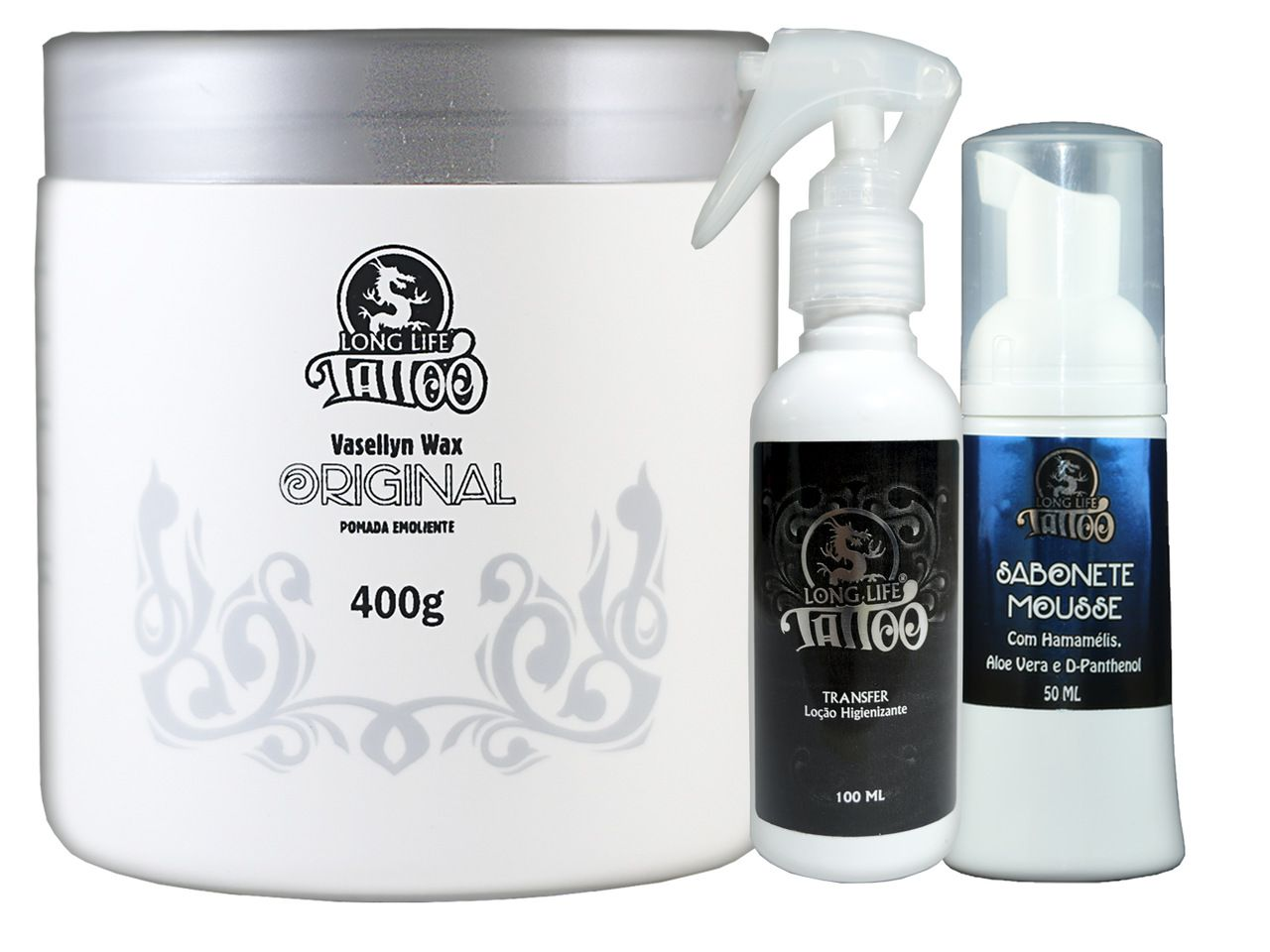 Vasellyn Wax Original 400g + Sabonete Mousse 50 ml + Transfer Loção 100 ml
