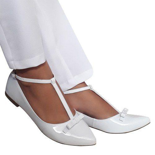 Sapato Branco Verniz Noiva Enfermagem Daminha Batizado Macio