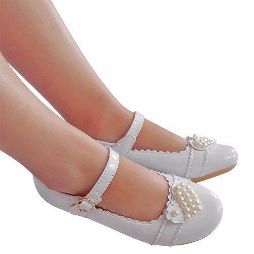 Sapato Branco Menina Noivinha Daminha Batizado Casamento