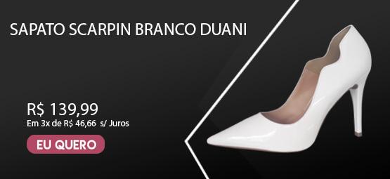 Sapato Scarpin Branco Duani Salto Alto