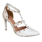 Sapato Branco Scarpin Salto Alto Spike Noiva Debutante Festa 15 Anos