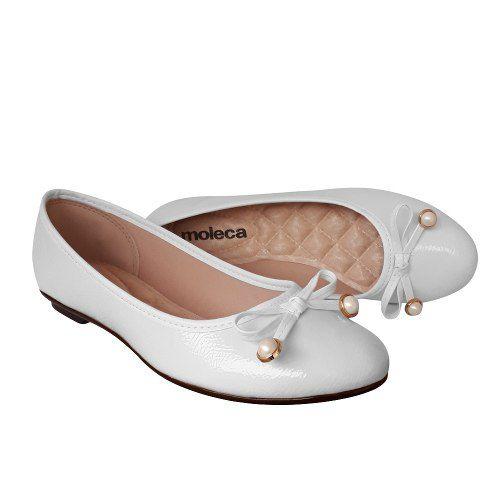 Sapato Sapatilha Moleca Branca Enfermagem Noiva Batizado