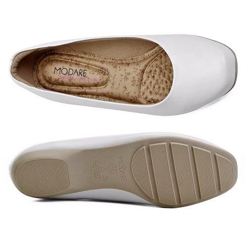 Sapatilha Sapato Branco Enfermagem Estética Batizado Modare Conforto