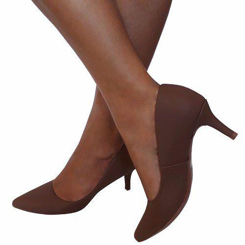 Sapato Scarpin Crysalis Salto Baixo Medio Confort