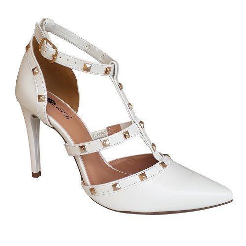 88cb3fa5f3 Sapato Branco Scarpin Salto Alto Spike Noiva Debutante Festa 15 Anos -  Duani ...
