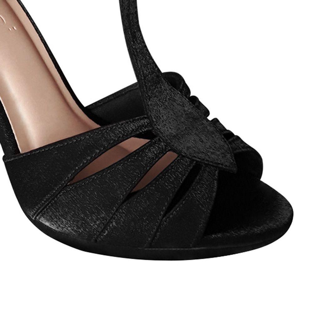 Sandalia de Dança  Preta Salto Alto Duani
