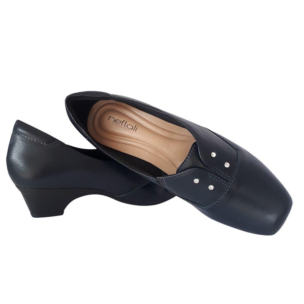 Sapato Azul Marinho ou Branco em Couro Neftali para Enfermagem Escritório Casual