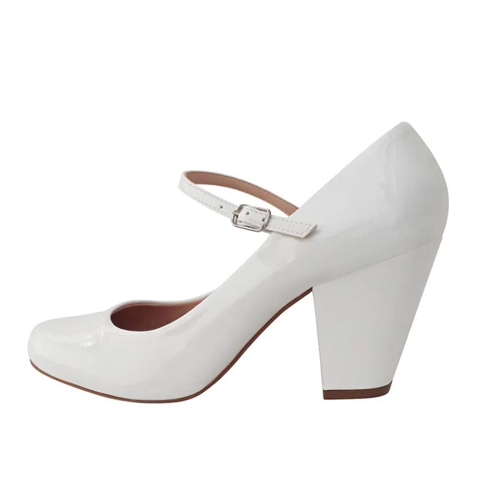 Sapato Noiva Boneca Branco Duani Salto Grosso