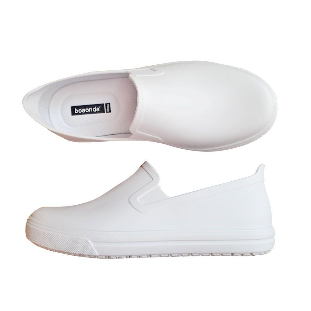 f841ec788 Sapato Branco Fechado Macio Profissional Enfermagem Cozinha - Duani ...