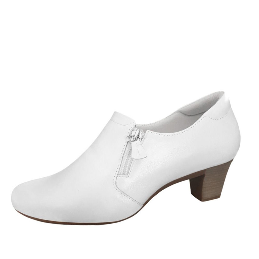 Sapato Branco Feminino Branco Enfermagem Fechado Couro Nr32