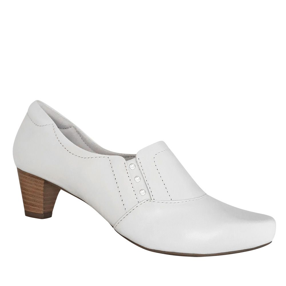 673aa094db Sapato Branco Neftali Feminino Enfermagem Enfermeira Couro Legítimo - Duani  ...