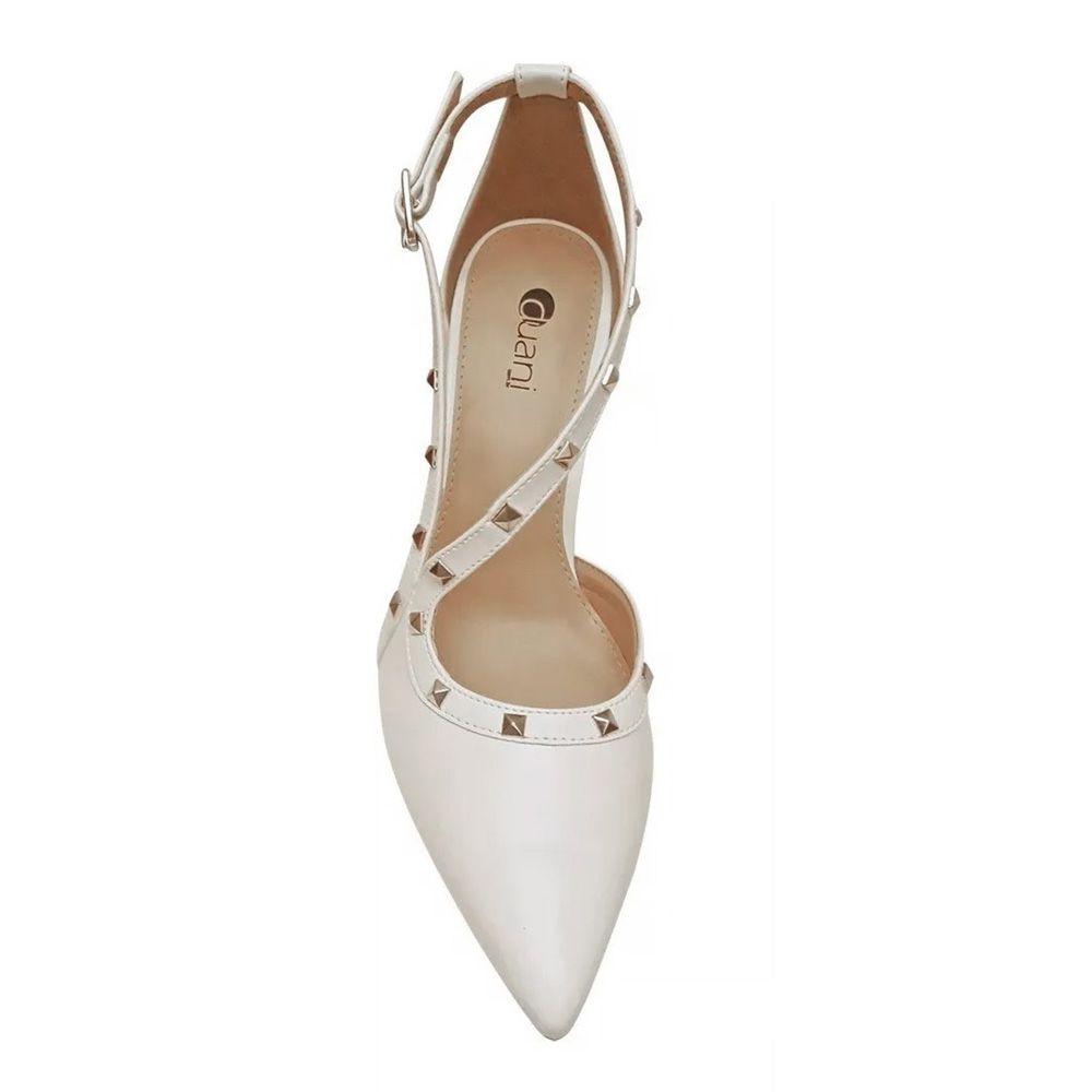 Sapato Branco Scarpin Noiva Spike Salto Alto Festa Debutante 15 Anos