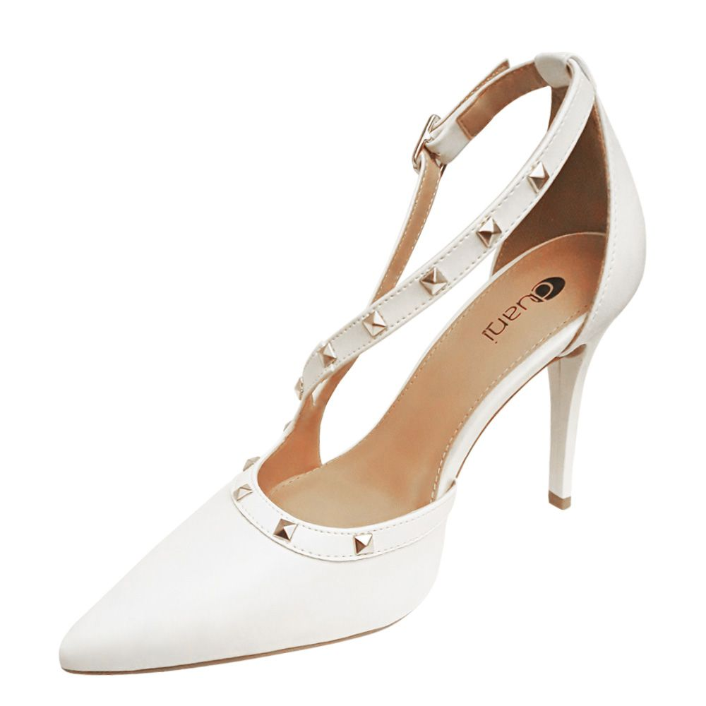 a8c48ff7c ... Sapato Branco Scarpin Noiva Spike Salto Alto Festa Debutante 15 Anos -  Duani