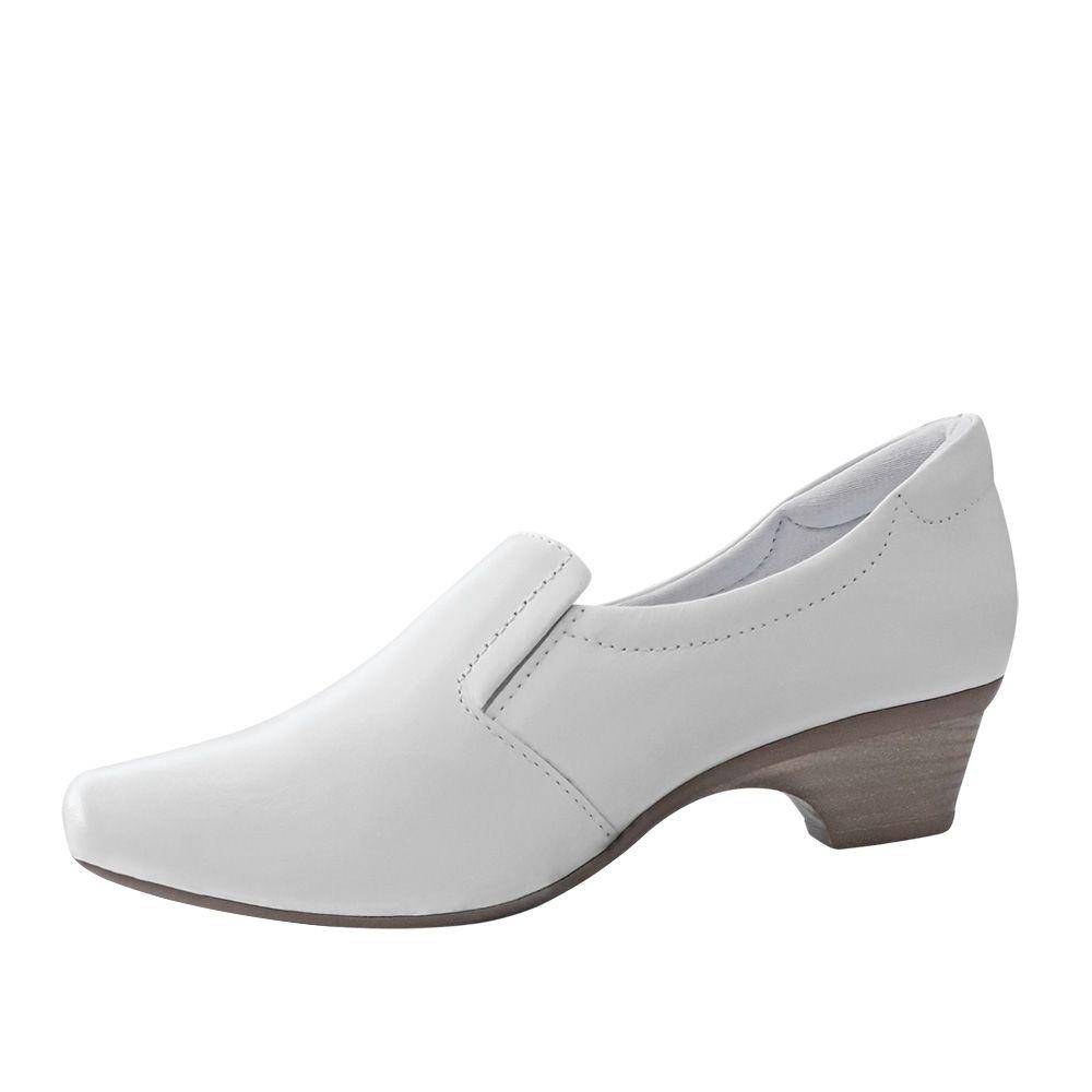 Sapato Couro Branco Feminino Neftali NR32 Enfermagem