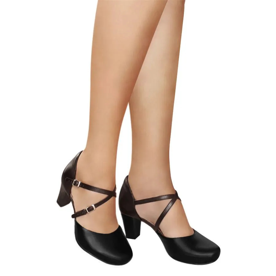 Sapato de Dança Preto Duani Com Ajuste Comfort