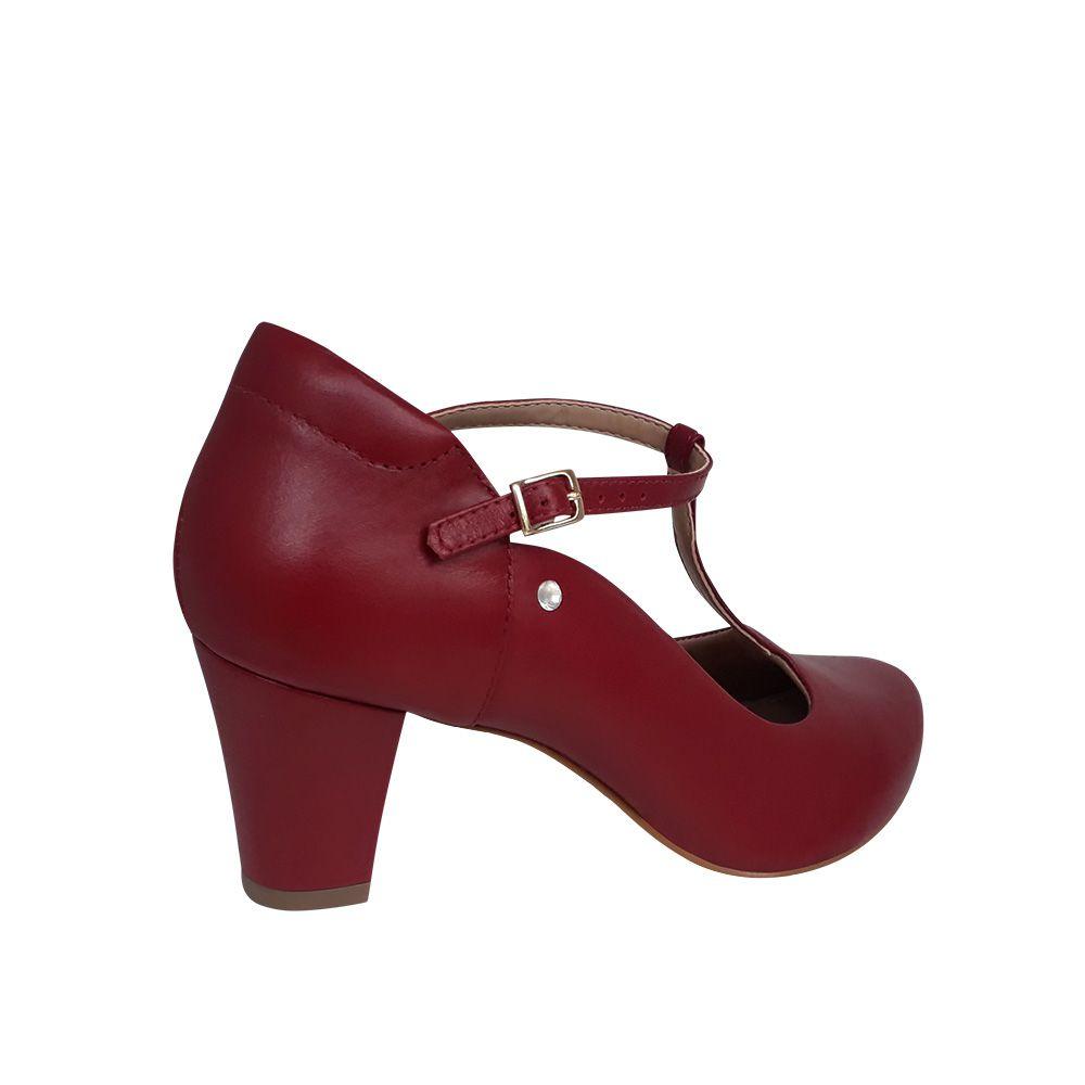Sapato para dança de salão boneca vermelho