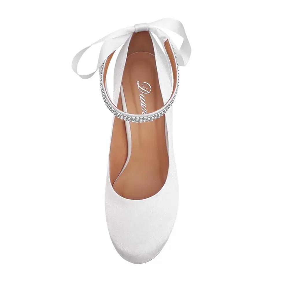 Sapato de Noiva Boneca Branco Duani