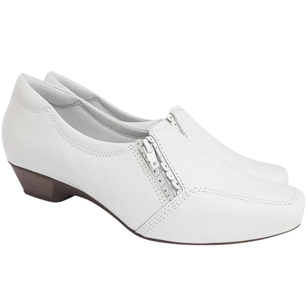 Sapato Feminino Branco Enfermagem Neftali Comfort Salto Baixo