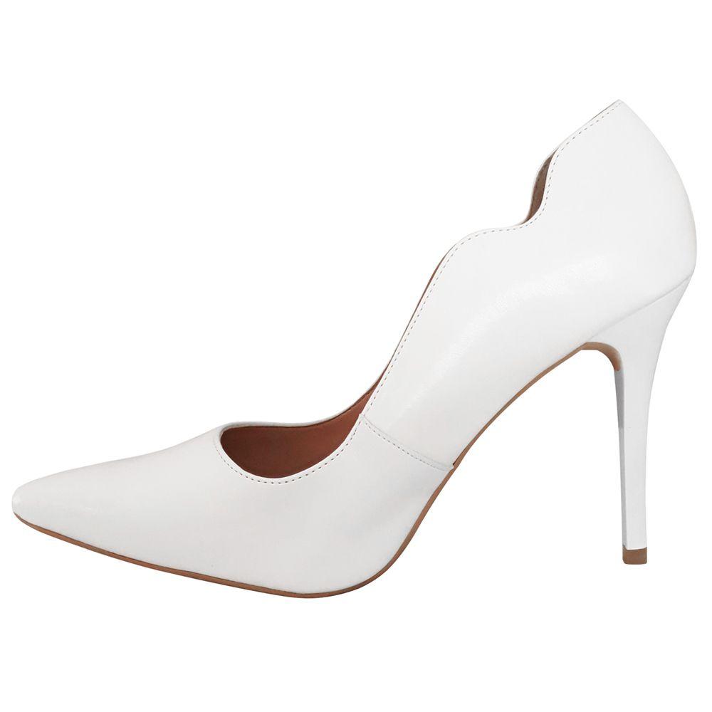 Sapato Noiva Scarpin Branco Salto Alto Duani