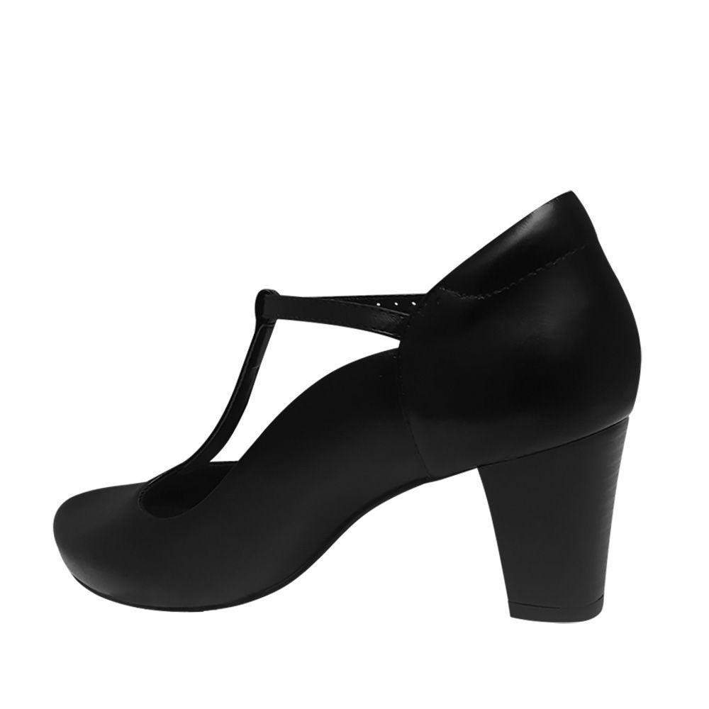 Sapato de Dança de Salão Preto Salto Confortavel Duani