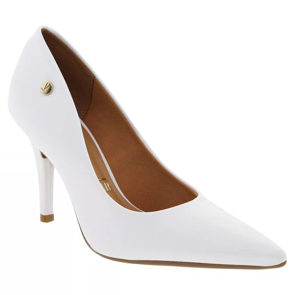 b81f806f8 Sapato Scarpin Branco Fosco Noiva Reveillon Festa Vizzano Salto Medio -  Duani ...