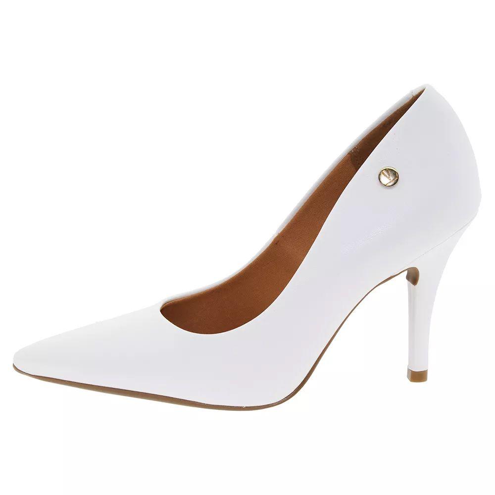 2a65bbc10 ... Sapato Scarpin Branco Fosco Noiva Reveillon Festa Vizzano Salto Medio -  Duani ...