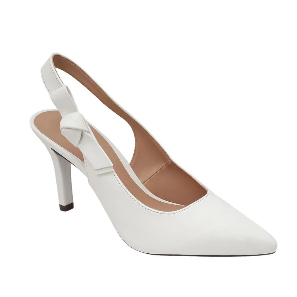 Sapato Scarpin Branco Noiva Salto Alto