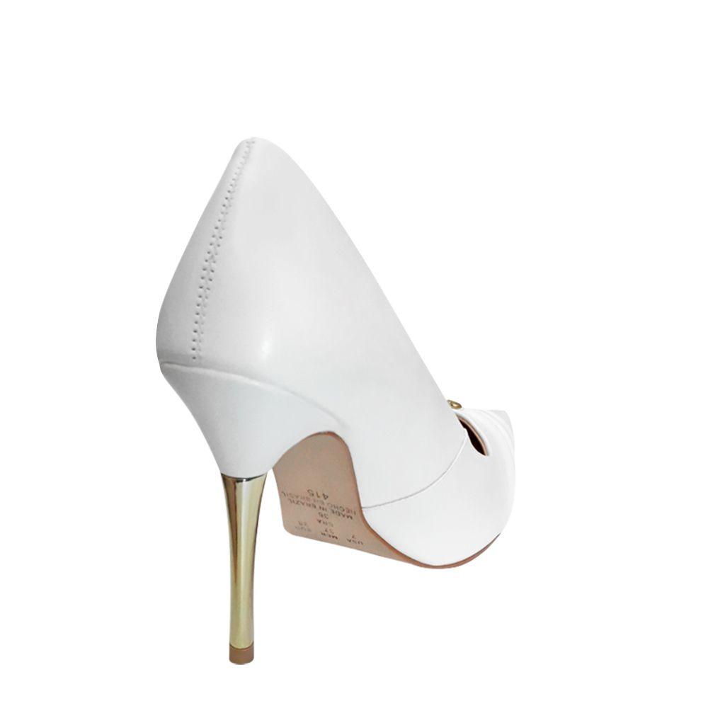 Sapato Scarpin Branco Salto Alto Noiva Formatura Debutante Madrinha Duani
