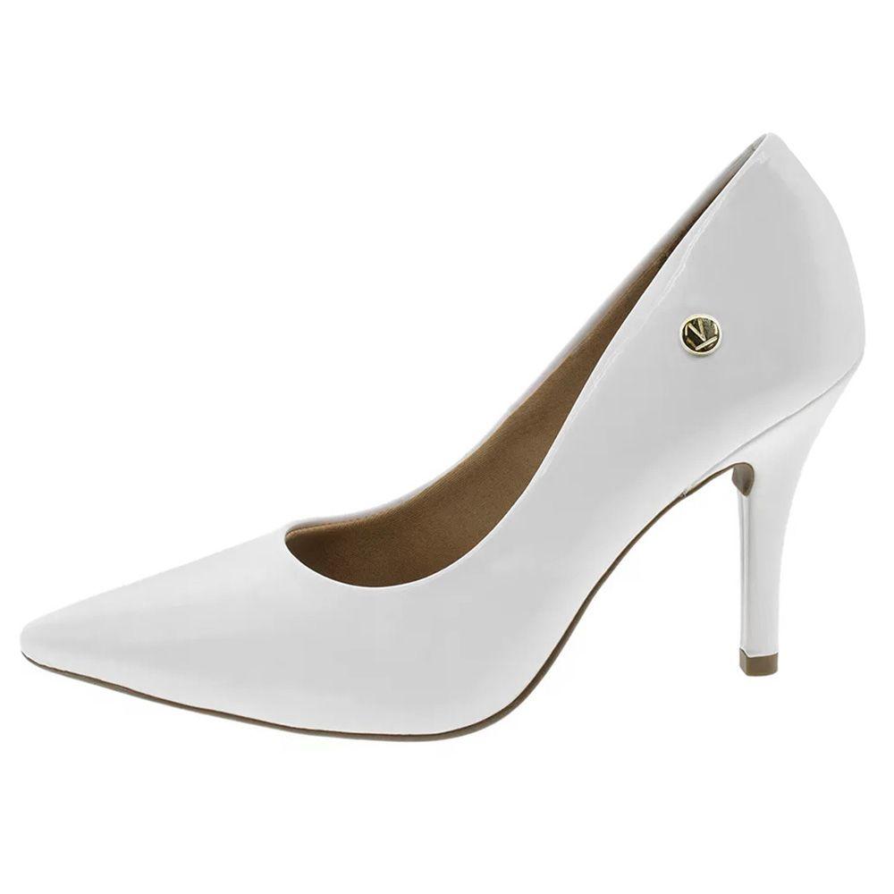 7ccb7e0ad6 Sapato Scarpin Branco Verniz Salto Alto Noiva Festa Vizzano - Duani ...