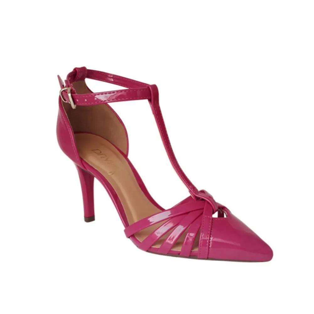 Sapato Scarpin Rosa Pink Salto Confortavel