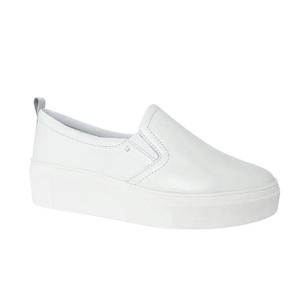 Sapato Feminino Branco Couro Enfermagem Neftali Comfort