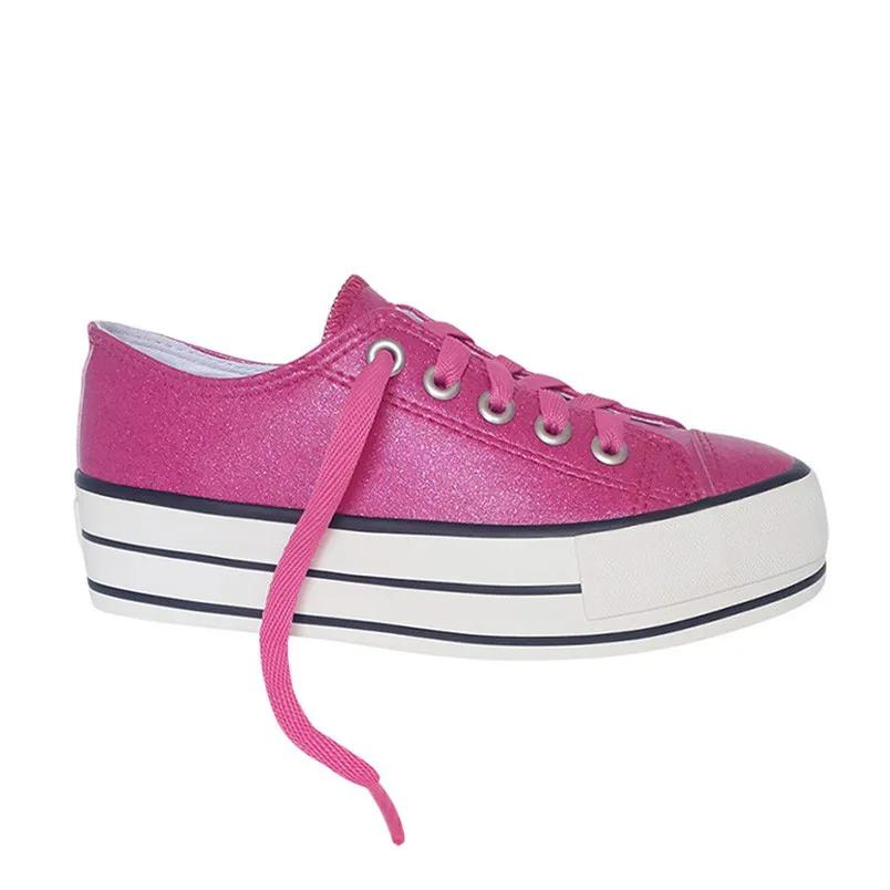 Tenis Feminino Capricho Likes Rosa Pink Gliter Sola Alta