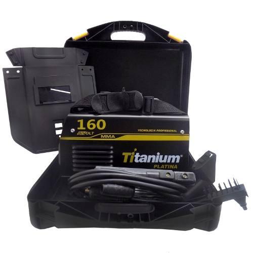Inversora Máquina De Solda Mma 160a Bivolt Titanium+brax