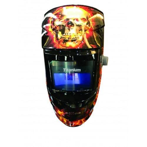 Mascara De Solda Automática Fixa Din 11 Caveira Titanium
