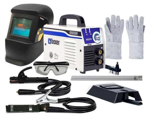 Inversora Solda 140amp Touch 150 Bivolt Boxer - Titanium Kit
