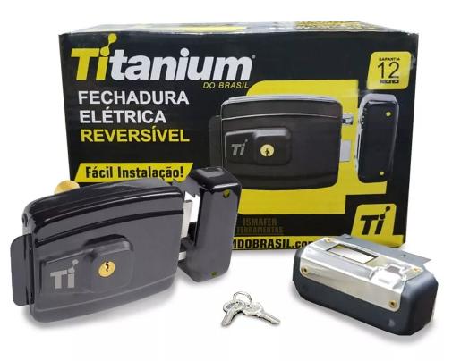 Fechadura Elétrica Reversível Titanium
