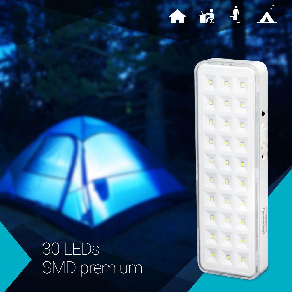 Iluminação de Emergência 30 LEDs a Bateria Segurimax