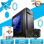 Bs Gamer AMD Athlon 200Ge 3.2GHZ 4MB, 8GB DDR4, HD 1TB, 500W, GTX 1050 2GB