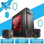 Bs Gamer AMD Ryzen 3 1200 3.1GHZ 10MB, 8GB DDR4, HD 1TB, 500W, GTX 1050 2GB
