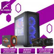 Bs Gamer AMD Ryzen 5 2600 3.4 Ghz 19MB, HD 1TB, 8GB DDR4, 500W, GTX 1060 6GB