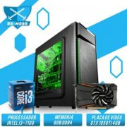 BS-GAMER INTEL CORE I3-7100 3.9GHZ 3MB, 8GB DDR4, HD 1TB, 500W, GTX 1050TI 4GB
